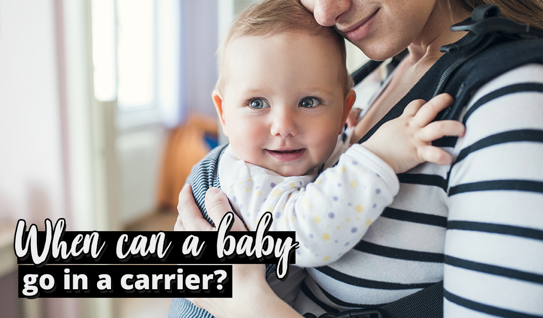 when can you use a baby carrier